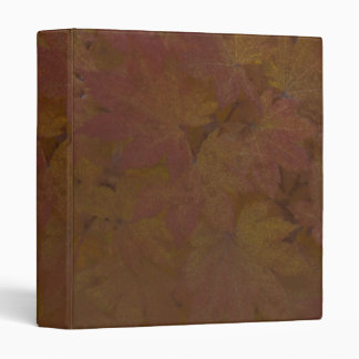 Brown Colored Fall Maple Leaves Binder