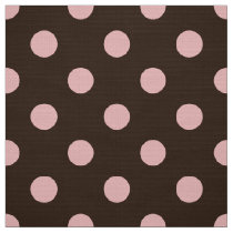 brown colored polka dots pattern fabric