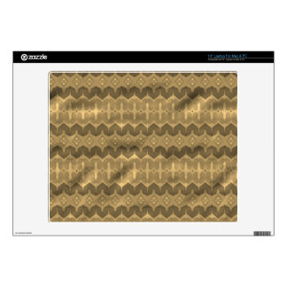 Brown colored trendy pattern decals for laptops
