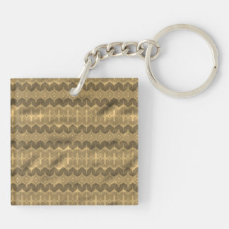 Brown colored trendy pattern keychain