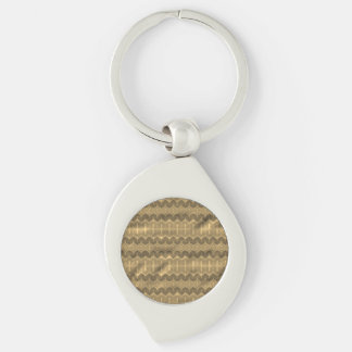 Brown colored trendy pattern keychains