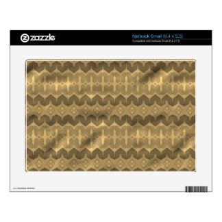 Brown colored trendy pattern skins for small netbooks