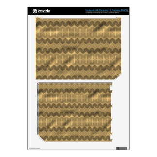 Brown colored trendy pattern skins for the wii
