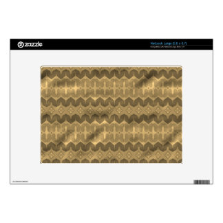 Brown colored trendy pattern netbook decals
