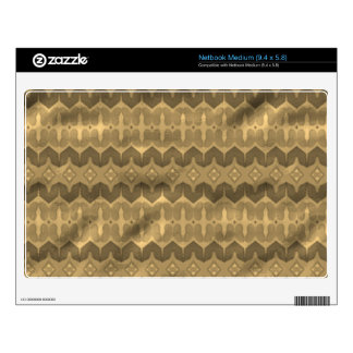 Brown colored trendy pattern decal for netbook