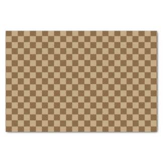 """Brown Combination Classic Checkerboard 10"""" X 15"""" Tissue Paper"""