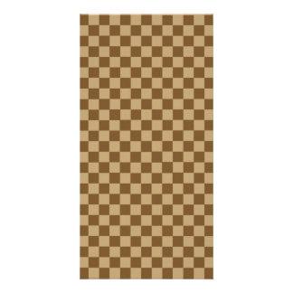 Brown Combination Classic Checkerboard Card