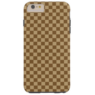 Brown Combination Classic Checkerboard Tough iPhone 6 Plus Case