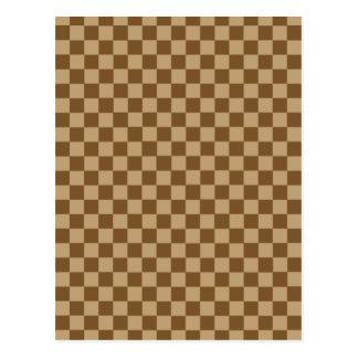 Brown Combination Classic Checkerboard Postcard