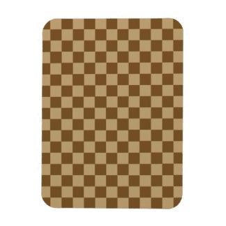 Brown Combination Diamond-Checkerboard Vinyl Magnets