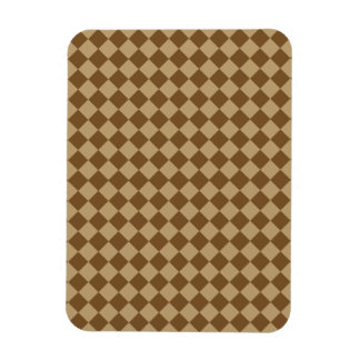 Brown Combination Diamond Pattern by STaylor Magnet