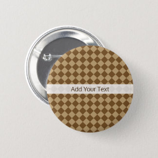 Brown Combination Diamond Pattern by STaylor Pinback Button