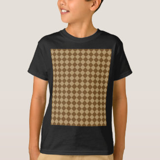 Brown Combination Diamond Pattern by STaylor T-Shirt