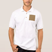 Brown Combination Diamond Pattern Polo Shirt