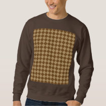 Brown Combination Diamond Pattern Sweatshirt