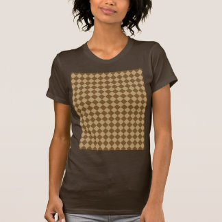 Brown Combination Diamond Pattern T-Shirt