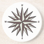 Brown Compass Rose Coaster