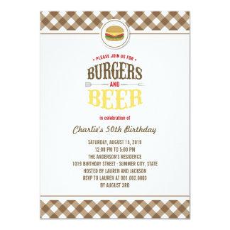 Brown comprueba las hamburguesas y a la fiesta de comunicado personalizado