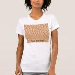 Brown con los lunares blancos camiseta