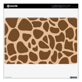 Brown con piel de Mac Book del estampado de girafa Calcomanía Para El MacBook Air
