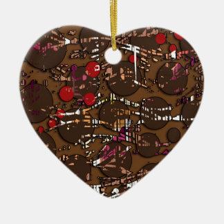 Brown confusion ceramic ornament