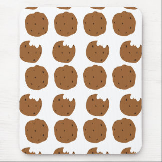 Brown Cookie pattern Mouse Pad