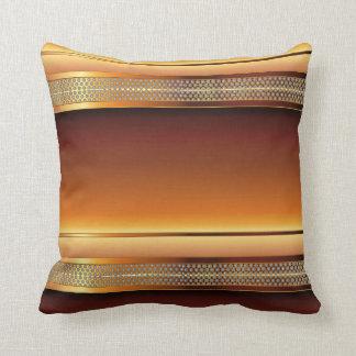 Brown Copper Metal Mesh Design Pillow