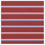 [ Thumbnail: Brown, Cornflower Blue, Light Pink & Maroon Lines Fabric ]