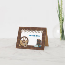 Brown Country Western Thank You Card
