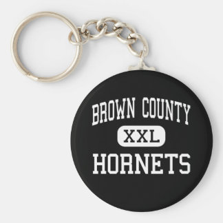 Brown County - Hornets - High - Mount Sterling Basic Round Button Keychain