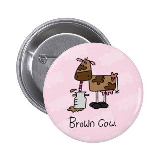 Brown Cow 2 Inch Round Button