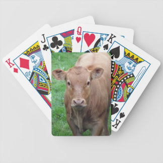 Brown cow bicycle playing cards