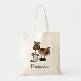 Brown Cow Budget Tote Bag