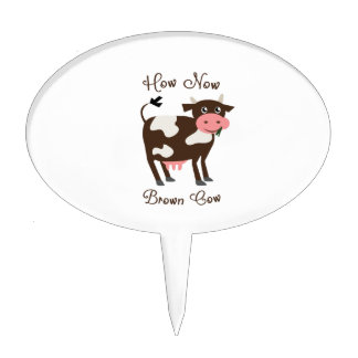 Brown Cow Cake Toppers