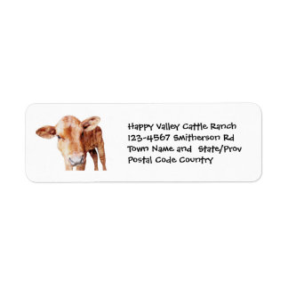 Brown Cow Cattle Farm or Ranch Sticker