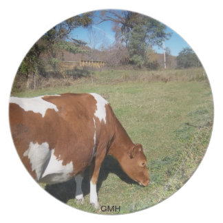 Brown Cow Collection Plate by GMH