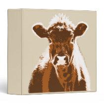 Brown Cow Farm Animal 3 Ring Binder