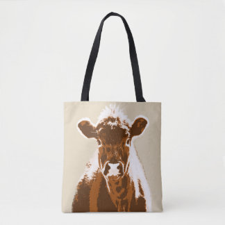 Brown Cow Farm Animal Tote Bag