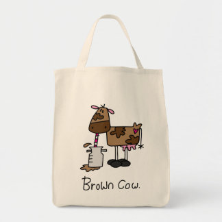 Brown Cow Grocery Tote Bag