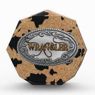 Brown Cow Hide Wrangler Award