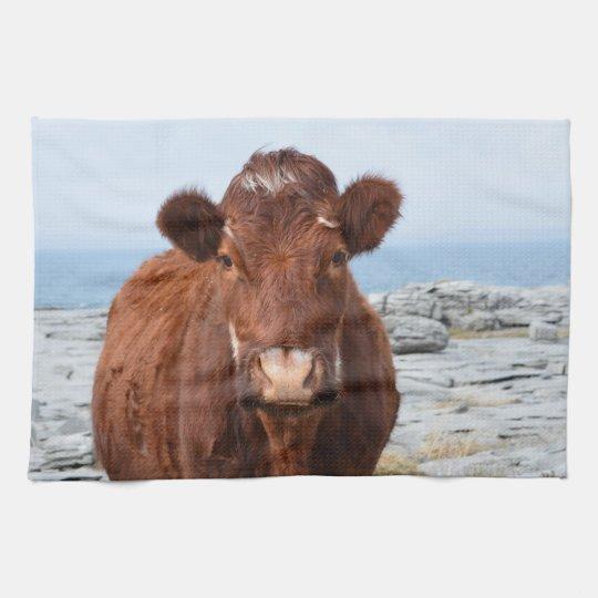 Brown Cow Kitchen Towel Zazzle Com