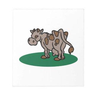 Brown Cow Memo Pad