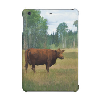 Brown Cow on a Horse and Cattle Ranch iPad Mini Retina Case