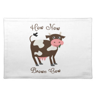 Brown Cow Cloth Place Mat