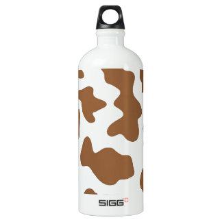 Brown Cow Print Aluminum Water Bottle