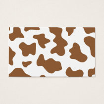 Brown Cow Print Business Card