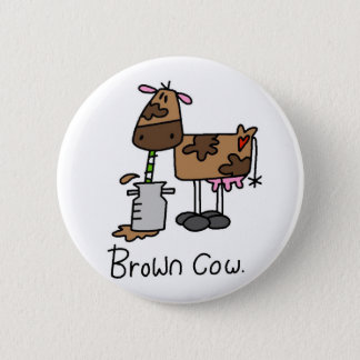 Brown Cow T-shirts and Gifts Pinback Button