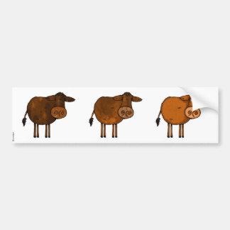 brown cow trio scrapbook sticker car bumper sticker