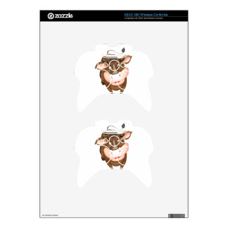 Brown cow xbox 360 controller decal