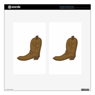Brown Cowboy Boot Kindle Fire Decal
